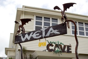 Entrance to the Weta Cave is on a residential street in a Wellington suburb.